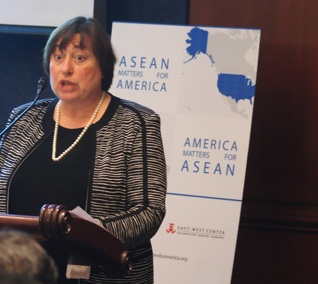 Undersecretary Novelli spoke about ways in which the US can continue its engagement with ASEAN. Image: Chris Feddersen/East-West Center.