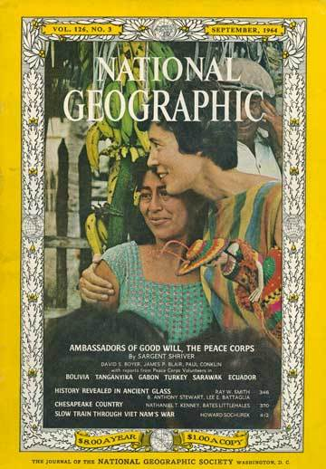 National Geographic Peace Corps cover, 1964.