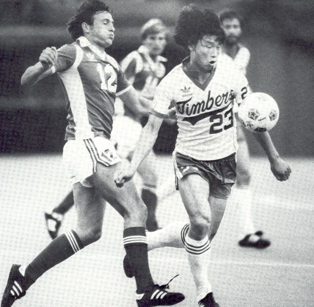 Cho Young-jeung plays for the 1981 Timbers.