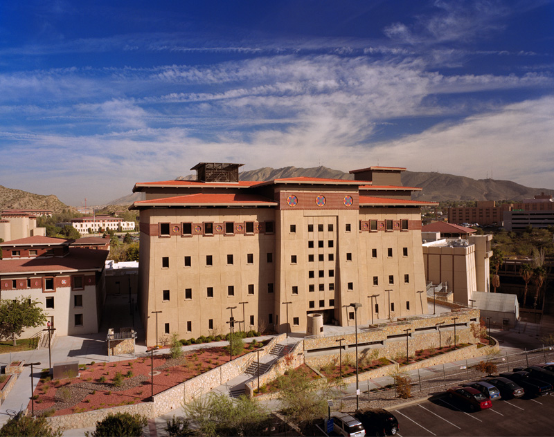 All buildings on the UTEP campus are designed after Bhutanese style architecture. Image: Univeristy of Texas El Paso