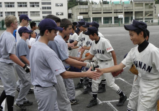 c2a63b20ea97b Young baseball players from Southern California meet new friends in Japan  as part of the 2009