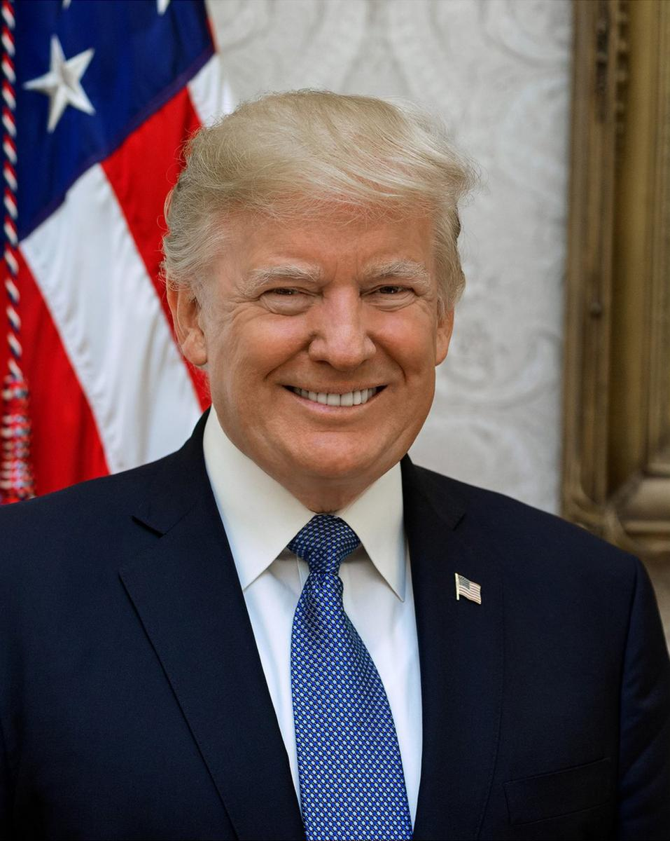 Official Portrait of President Donald J. Trump. Image: The White House