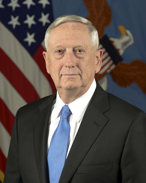 Official Portrait of Secretary of Defense Gen. (ret.) James Mattis. Image: Flickr account of the Secretary of Defense
