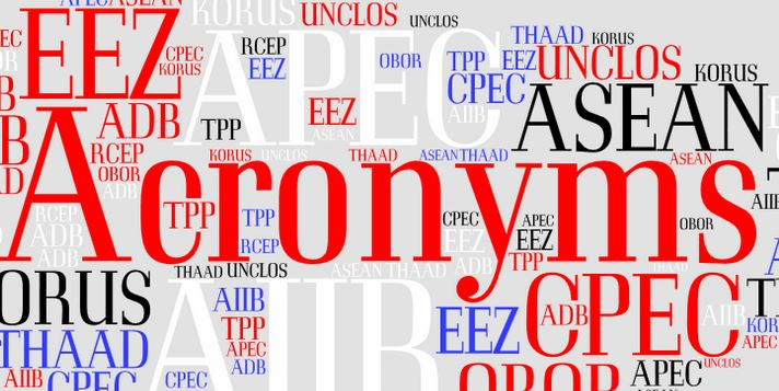 Banner image for the Acronyms Project. Image: East-West Center in Washington.