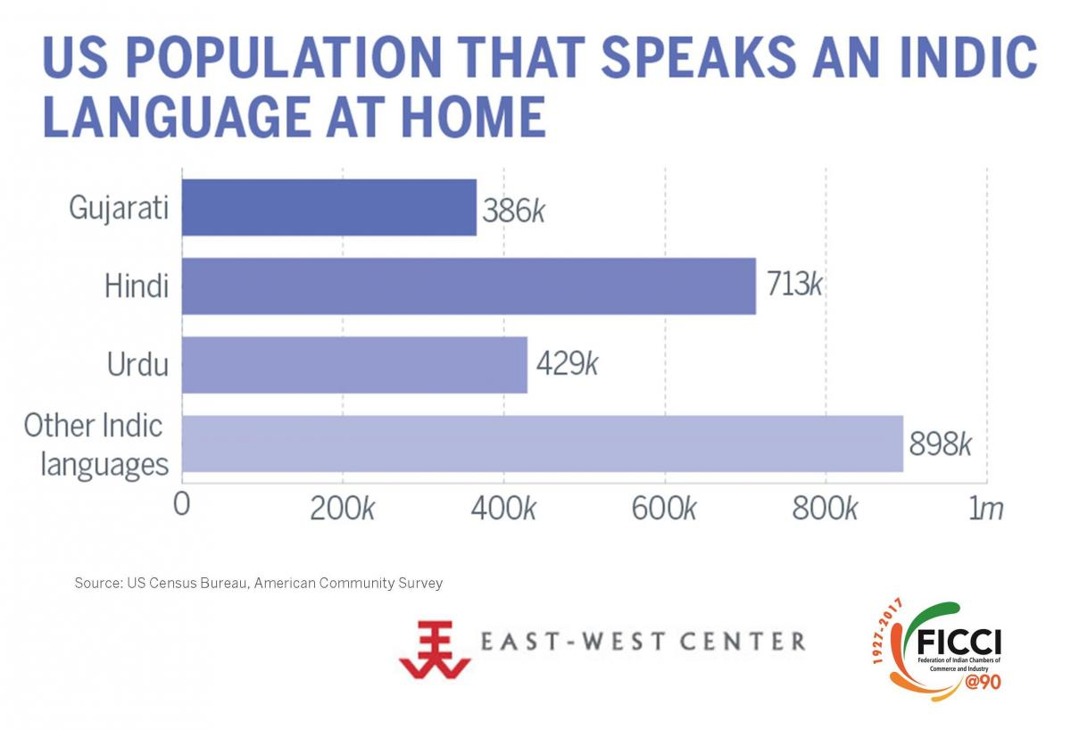 US Population that Speaks an Indic Language at Home