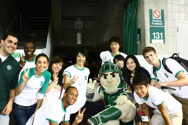 The Japan Club at Michigan State University is comprised of both local students and international students from Japan. While the number of international students at MSU has risen consistently over the past decade, the number of Japanese students in 2011 decreased nearly 50% to around 100. Photo by: MSU Japan Club