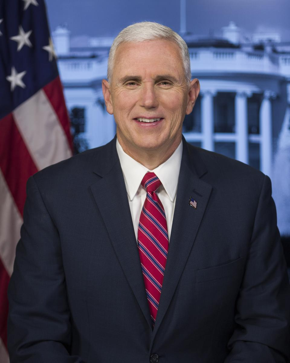 Official Portrait of Vice President Mike Pence. Image: The White House.