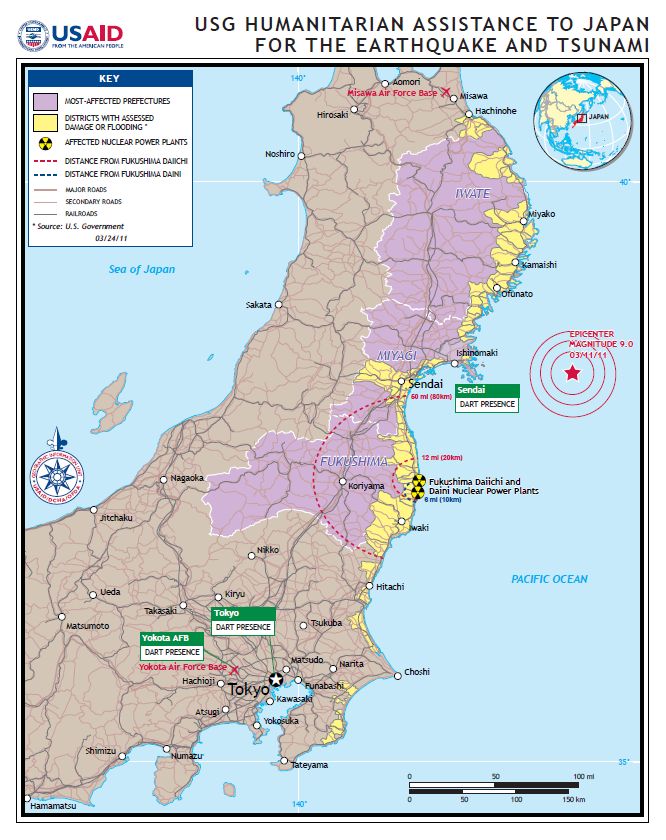 map of the disaster affected areas and deployment of us humanitarian istance chart source map of the disaster affected areas and deployment of us
