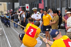 US-Japanese Tug of War Competition